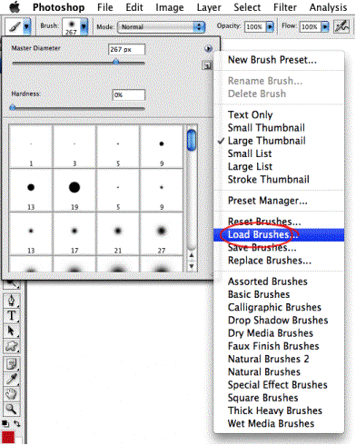 How to install brushes in adobe photoshop cs3 install brushes tutorial screenshot ccuart Gallery